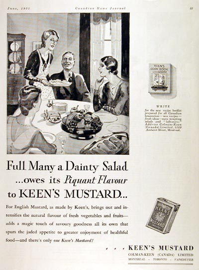 Keen's English Mustard advertisement (1931)