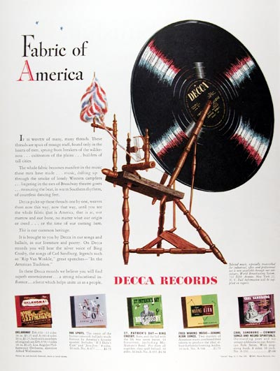 Decca Records Advertisement (1947)